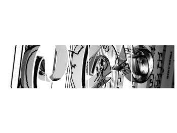 Moderní obraz houslového klíče (F000206F16040)