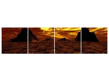 Obraz vyprahlého údolí (F000287F16040)