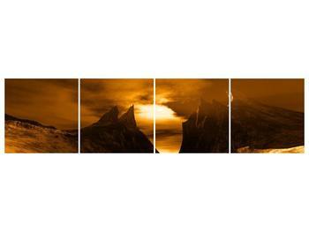 Obraz skály a pláže (F000300F16040)