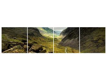 Obraz cesty uprostřed hor (F000621F16040)