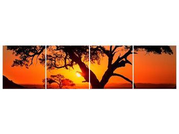 Obraz ohnivého západu slunce (F001288F16040)