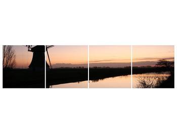 Obraz rybníku u mlýna (F001556F16040)