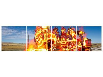 Obraz ohnivé lokomotivy (F001696F16040)