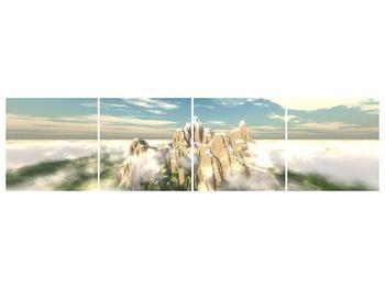 Obraz zasněžených vrcholů skal (F001715F16040)