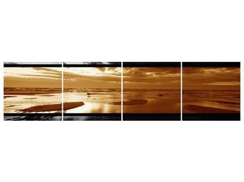 Dvroubarevný obraz moře (F001957F16040)
