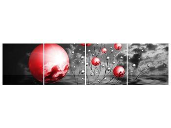 Moderní obraz - červené koule (F002086F16040)