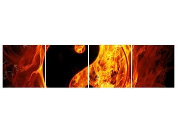 Obraz hořícího jin jang (F002309F16040)