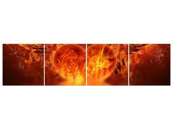 Obraz hořícího srdce s křídly  (F002884F16040)
