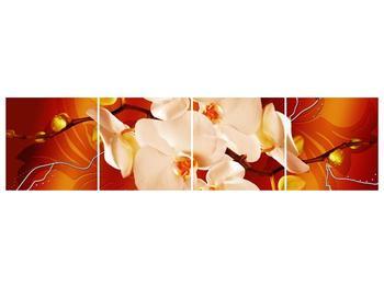Obraz bílých orchidejí (F005694F16040)