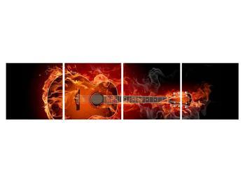 Lángoló gitár képe (K011168K16040)