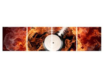 Tablou cu placă de gramofon în foc (K011171K16040)