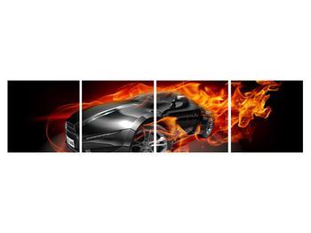 Tablou cu mașina arzând (K011174K16040)