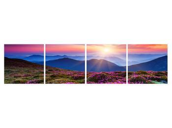 Tablou cu peisaj montan înflorit (K011322K16040)