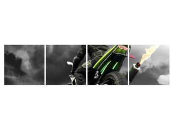 Tablou cu motociclist pe motocicletă (K011383K16040)