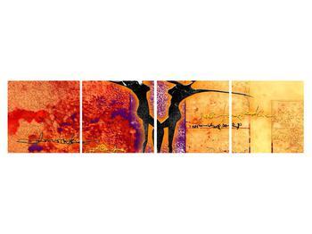 Tablou abstract cu doi dansatori (K011975K16040)