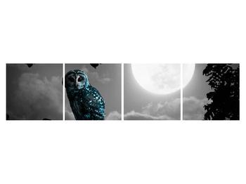 Tablou cu bufnița nocturnă (K012185K16040)