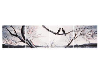 Tablou cu păsări îndrăgostite (K012516K16040)