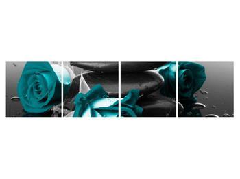 Tablou cu trandafiri albastre (K012553K16040)