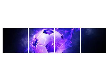 Tablou cu mingea de footbal în plasă (K014164K16040)