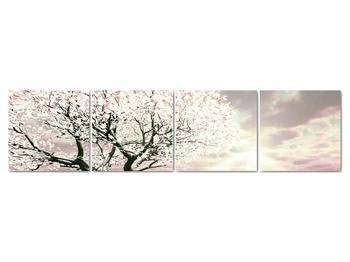 Růžový obraz stromu (V020058V16040)