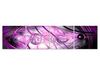 Obraz krásné fialové abstrakce (V020060V16040)
