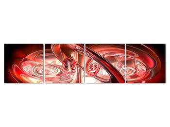 Obraz - červené tvary (V020064V16040)