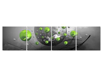 Obraz zelených abstraktných gulí (V020103V16040)
