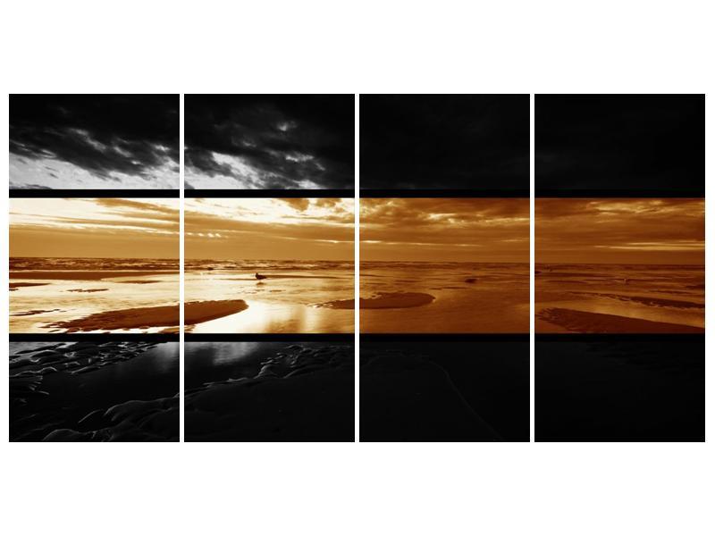Dvroubarevný obraz moře (F001957F16080)