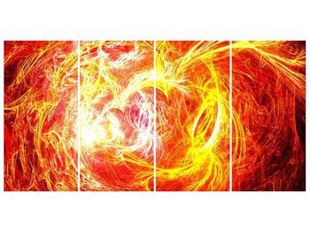 Abstraktní oranžový obraz (F000152F16080)