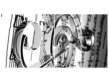 Moderní obraz houslového klíče (F000206F16080)