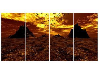 Obraz vyprahlého údolí (F000287F16080)