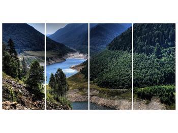 Obraz řeky a hor (F000615F16080)