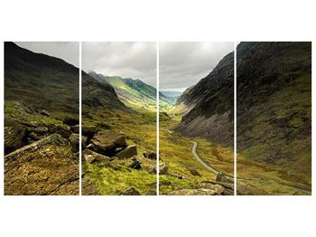 Obraz cesty uprostřed hor (F000621F16080)