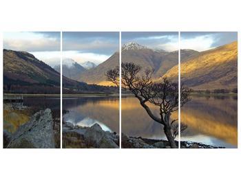 Obraz hor u jezera (F000686F16080)