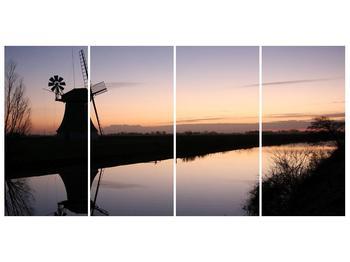 Obraz rybníku u mlýna (F001556F16080)
