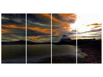 Obraz moře v temné obloze (F001564F16080)