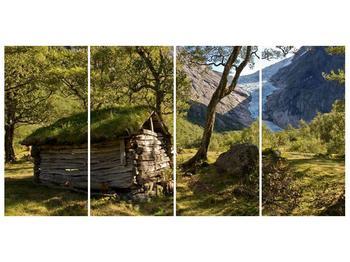 Obraz horské chatrče (F001636F16080)