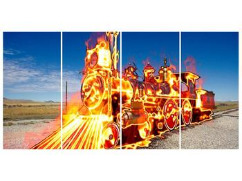 Obraz ohnivé lokomotivy (F001696F16080)