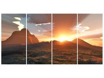Obraz západu slunce nad horama (F001700F16080)