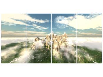 Obraz zasněžených vrcholů skal (F001715F16080)