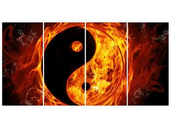 Obraz hořícího jin jang (F002309F16080)