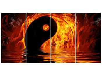 Obraz hořícího Jin Jangu  (F002885F16080)