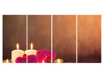 Tablou relaxant cu lumănâri și orhidee (K011120K16080)