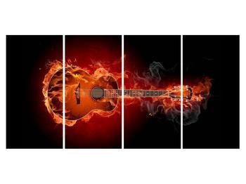 Lángoló gitár képe (K011168K16080)