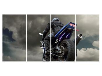 Tablou cu motociclist cu motocicletă (K011302K16080)