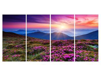 Tablou cu peisaj montan înflorit (K011322K16080)