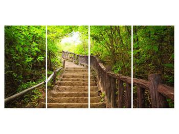 Tablou cu trepte ducând prin peisaj (K011329K16080)