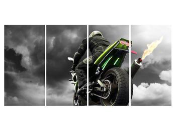 Tablou cu motociclist pe motocicletă (K011383K16080)