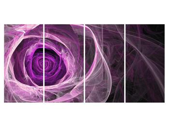 Moderný obraz fialovej ruže (K011482K16080)