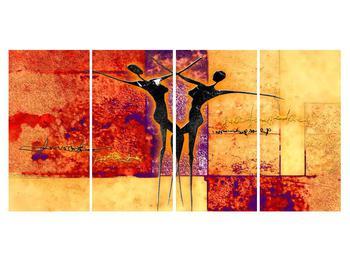 Tablou abstract cu doi dansatori (K011975K16080)